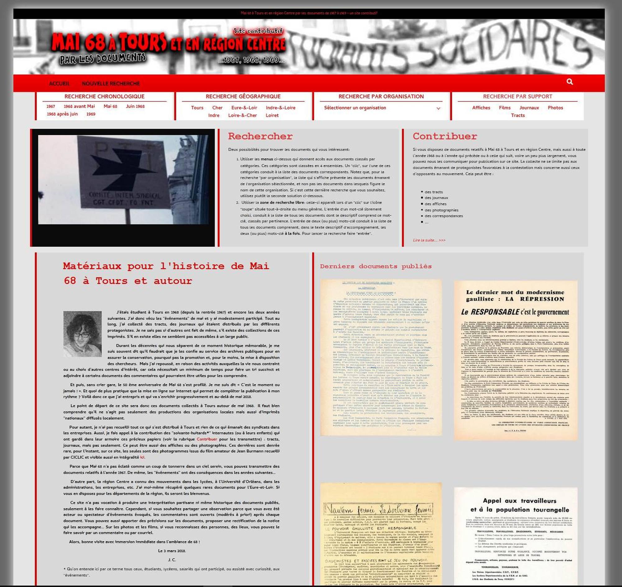 mai68-a-tours: un site d'un historien sur Mai68 en Touraine.
