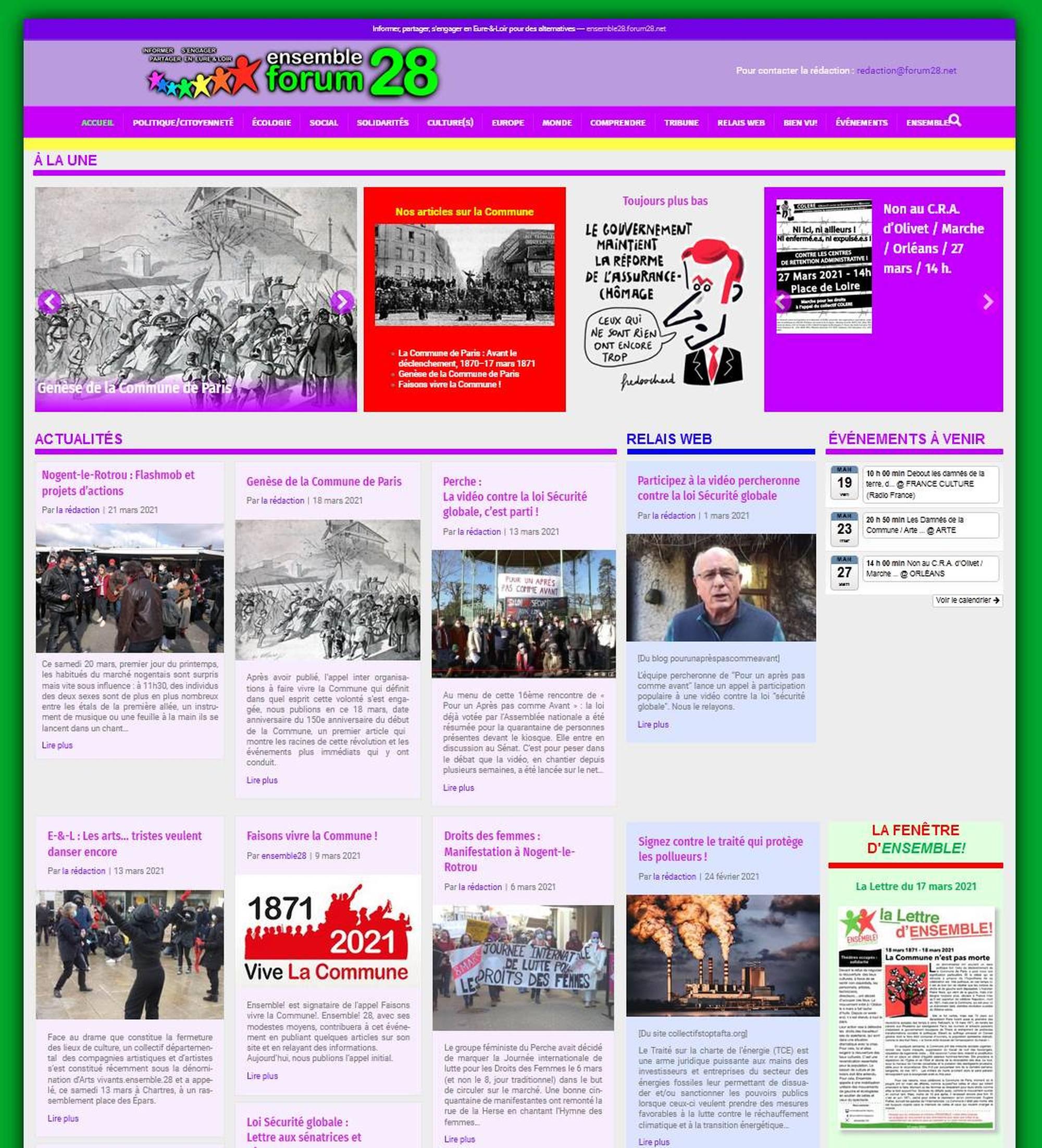 ensemble28.forum28.net: un site sur les mouvements sociaux en Eure-&-Loire.